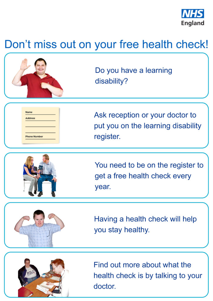 nhs free health check leaflet